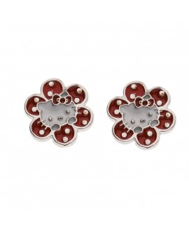 Pendientes Hello Kitty flor...