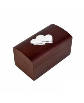Caja joyero corazones 18x10x9