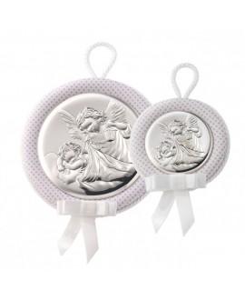 Medalla de cuna angel rosa...