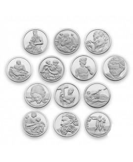 Arras matrimoniales 2cm moneda