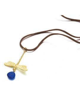 Colgante Lecarre libélula azul