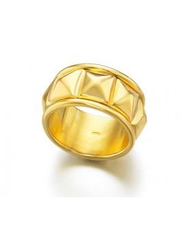 Anillo Lecarre tachuelas oro