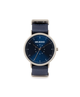 Reloj Mr Boho iron blue casual metallic