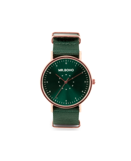 Reloj Mr Boho copper green metallic