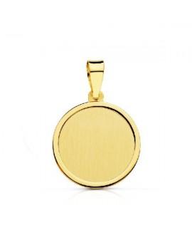 Medalla lisa oro 14mm