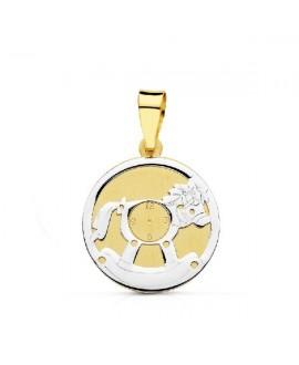 Medalla bicolor caballo...
