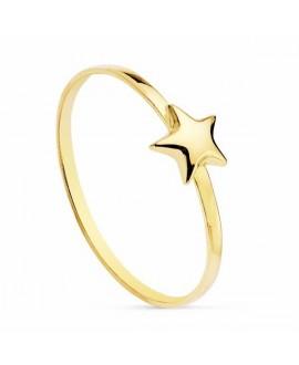Anillo de mujer oro estrella