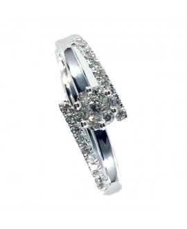 Anillo con brillantes 0.26 ct