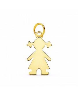 Colgante silueta niña oro