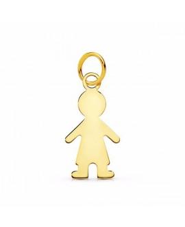 Colgante silueta niño oro