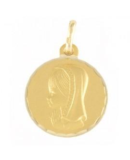 Medalla comunión virgen niña, 16mm
