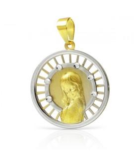Medalla comunión virgen 18mm