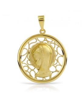 Medalla comunion virgen niña 20mm