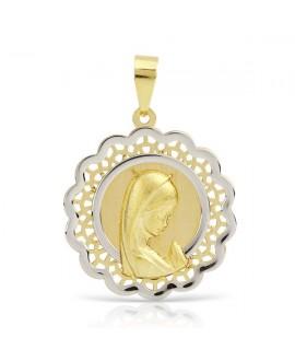 Medalla comunion virgen 18mm