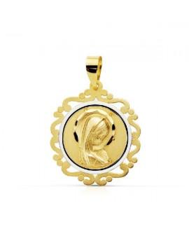 Medalla comunion virgen 17mm