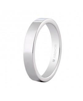 Alianza de platino confort 4mm