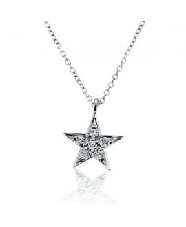 Collar oro blnco estrella...