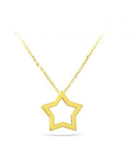 Colgante de estrella oro...