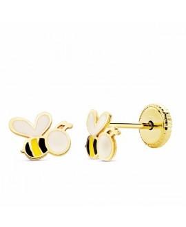 Pendiente de bebe abeja oro