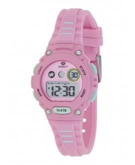 Reloj Marea digital rosa/menta