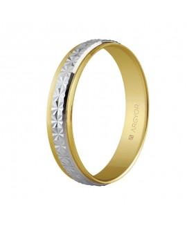 Alianza de boda dos oros...