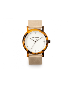 Reloj Mr Boho acetate white walnut