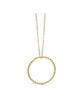 Collar oro aro espiral