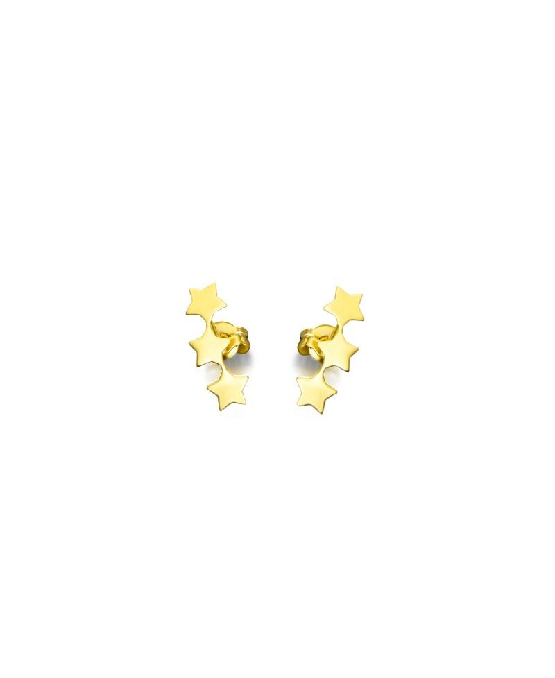 2c861182634c Pendientes 3 estrellas oro