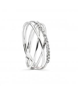 Anillo de diamantes con varios hilos