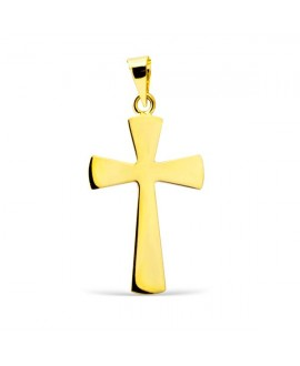 Cruz de oro lisa 22 mm