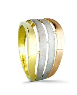 a277a0f50852 Anillo de oro tricolor ancho