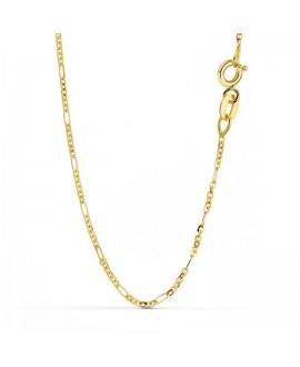 Cadena de oro alternada 45 cm