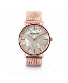 Reloj Mr Boho Metallic  Rosado Mop Blanco - 36Mm