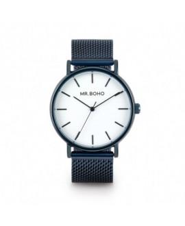 Reloj Mr Boho Metallic Azul 40 Mm