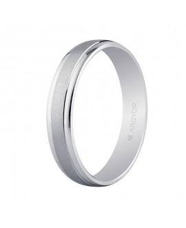 Alianza de boda oro blanco 4mm