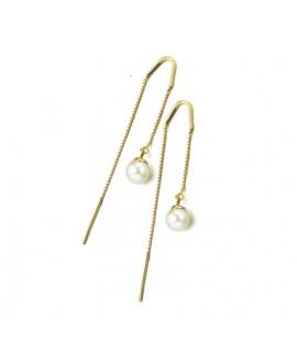 b4a0c8168439 Gran catálogo de Joyería Online. Pendientes con cadena oro y perla