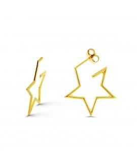 Pendientes de aro con forma de estrella, 19 mm
