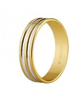 Alianza de boda oro bicolor...