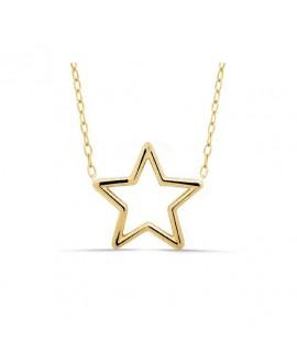Collar de estrella con cadena 21 mm