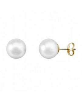 Pendiente de perla cultivada, 10 mm