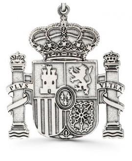 Llavero de plata escudo de España 36x34