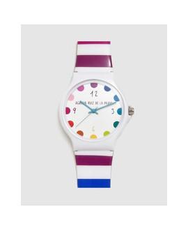 Reloj de mujer Ágatha Ruiz de la Prada Flip de rayas multicolor
