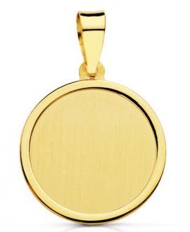 Medalla tipo placa redonda...