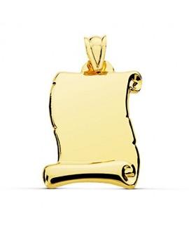 Placa pergamino mediano oro
