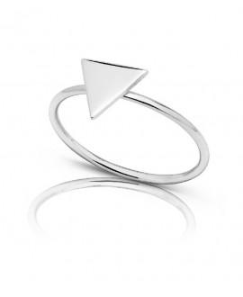 Anillo de plata triangulo...