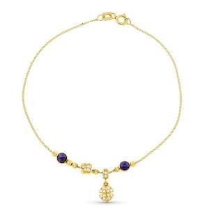 Pulsera de oro con charms,...