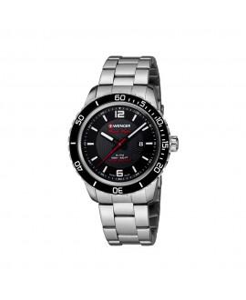 Reloj de Hombre Wenger Roadster Black Night Negro/Plata Joyería GImeno