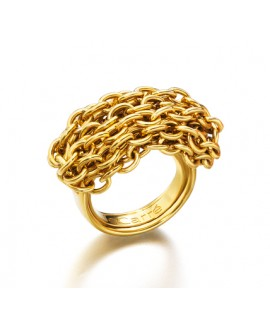 Anillo mujer cadenas dorado