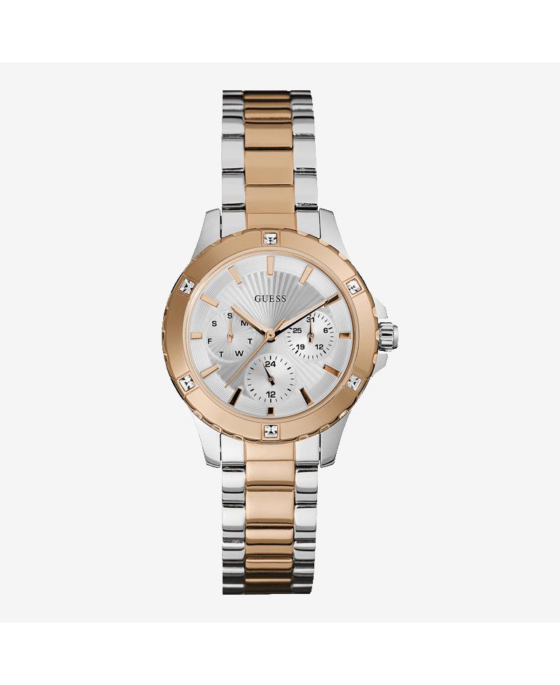 8693a8c35ff1 Reloj mujer Guess multifuncion acero-rosa
